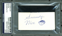 "Moe Howard Signed 1.5x3.25 Cut With Hand-Drawn Sketch Inscribed ""Sincerely"" (PSA Encapsulated) at PristineAuction.com"