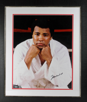 Muhammad Ali Signed 16x20 Custom Framed Photo Display (Steiner Hologram) at PristineAuction.com