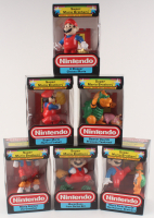 Lot of (6) Super Mario Brothers Nintendo Trophy Figurines at PristineAuction.com