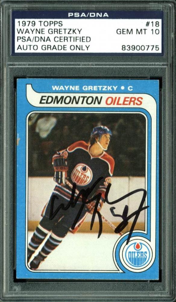Wayne Gretzky Signed 1979-80 Topps #18 RC (PSA Encapsulated) at PristineAuction.com