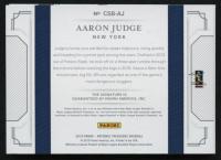 2019 Panini National Treasures Cut Signature Booklets Platinum #31 Aaron Judge #1/1 at PristineAuction.com