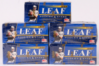 Lot of (5) 1998 Leaf Rookies & Stars Football Boxes at PristineAuction.com