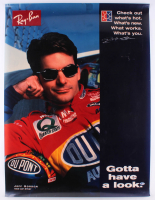 Jeff Gordon Signed 30x40 Ray-Ban Poster (Beckett Hologram) at PristineAuction.com