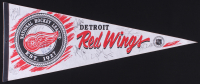 Detroit Red Wings Full-Size Pennant Signed by (9) with Steve Yzerman, Sergei Fedorov, Bob Probert, Paul Coffey (JSA ALOA) at PristineAuction.com