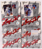 Lot of (6) 1990 Leaf Baseball Boxes with (3) Series 1 & (3) Series 2 at PristineAuction.com