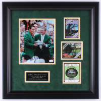 Phil Mickelson Signed 21.x21.5 Custom Framed Photo Display with (3) Masters Tournament Passes (JSA COA) at PristineAuction.com