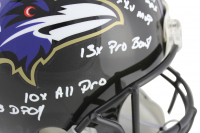 Ray Lewis Signed Baltimore Ravens Full-Size Authentic On-Field Helmet with (11) Inscriptions (Beckett COA) at PristineAuction.com