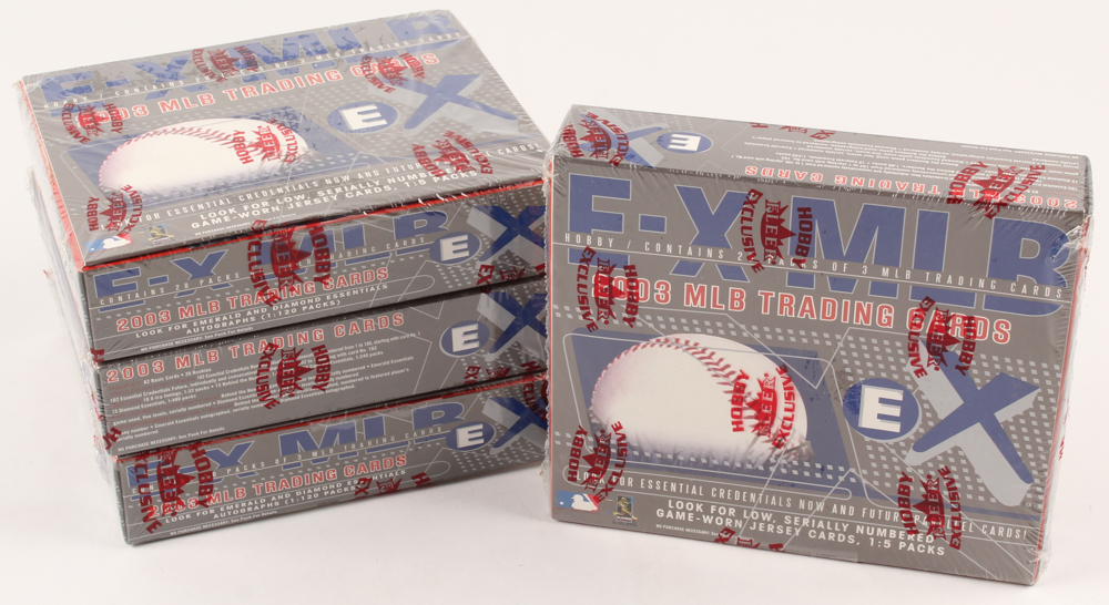 Lot of (4) 2003 Fleer Ex MLB Baseball Unopened Boxes with (20) Packs at PristineAuction.com