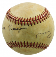Ronald Reagan & George H. W. Bush Signed OAL Baseball (JSA LOA) at PristineAuction.com
