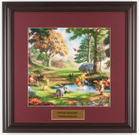 "Thomas Kinkade Walt Disney's ""Winnie-the-Pooh"" 18x18.5 Custom Framed Print Display at PristineAuction.com"