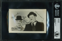 Stan Laurel Signed 3.5x5.5 Photo with (2) Inscriptions (BGS Encapsulated) at PristineAuction.com