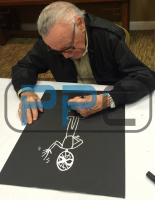 "Stan Lee Signed ""Spider-Man"" 16x20 Drawing on Canvas (Lee Hologram & PSA LOA) at PristineAuction.com"