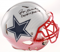 """Roger Staubach Signed Dallas Cowboys Full-Size Authentic On-Field Hydro-Dipped Speed Helmet Inscribed """"Captain America"""" (Beckett COA) at PristineAuction.com"""