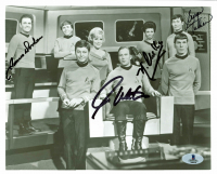 "William Shatner, Nichelle Nichols, George Takei & James Doohan Signed ""Star Trek"" 8x10 Photo (Beckett COA) at PristineAuction.com"