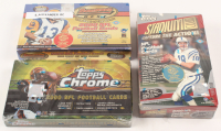 Lot of (3) Football Unopened Boxes with 2000 Topps Stadium Club NFL Box, 2000 Bowman Best Box, & 2000 Topps Chrome Box at PristineAuction.com