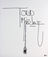 "Todd McFarlane Signed ""Spider-Man"" 16x20 Sketch on Canvas (Beckett COA) at PristineAuction.com"