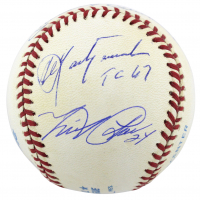 """Triple Crown Winners OAL Baseball Signed by (5) with Mickey Mantle, Ted Williams, Carl Yastrzermski, Frank Robinson & Miguel Cabrera Inscribed """"TC 67"""" (PSA COA) at PristineAuction.com"""