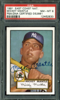 Mickey Mantle Signed 1991 Topps East Coast National #2 / 1952 Topps (PSA Encapsulated) at PristineAuction.com