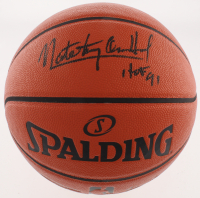 """Nate """"Tiny"""" Archibald Signed NBA Game Ball Series Basketball Inscribed """"HOF 91"""" (Schwartz COA) at PristineAuction.com"""