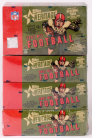 Lot of (4) 2001 Topps Heritage Football Hobby Boxes at PristineAuction.com