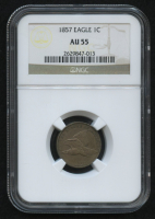 1857 1¢ Flying Eagle Cent (NGC AU 55) at PristineAuction.com