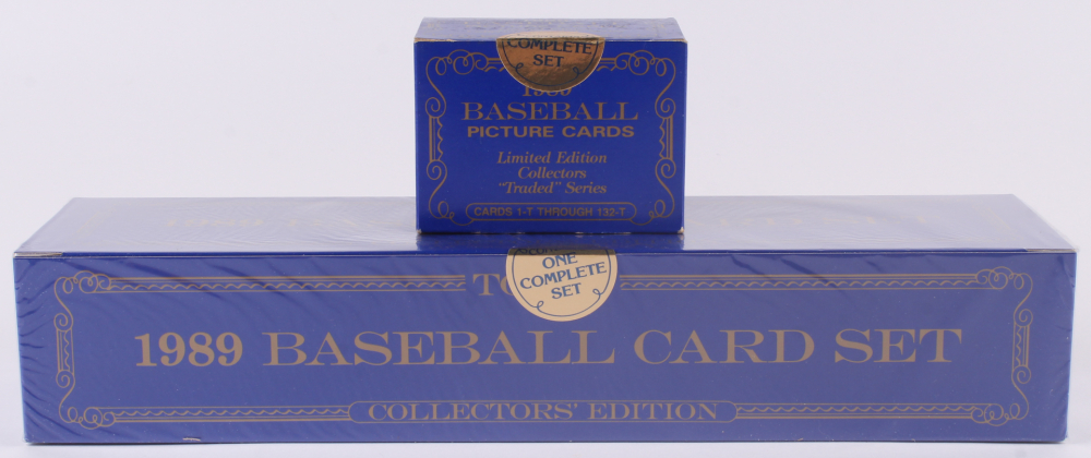 1989 Topps Traded Tiffany Complete Set of (792) Baseball Cards with 1989 Topps Traded Tiffany Traded Series Baseball (132) Cards at PristineAuction.com