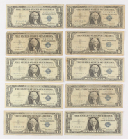 Lot of (10) 1957 $1 One-Dollar Blue Seal Silver Certificates at PristineAuction.com