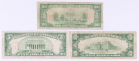 Lot of (3) 1929 U.S. National Currency Bank Notes with $20, $10 & $5 at PristineAuction.com