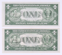 Lot of (2) 1935-A $1 One Dollar Hawaii Brown Seal Silver Certificate Bank Note Bills with Consecutive Serial Numbers at PristineAuction.com