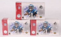 Lot of (3) 2003 Upper Deck SP Authentic Football Hobby Boxes at PristineAuction.com