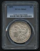 1899 $1 Morgan Silver Dollar (PCGS MS 63) at PristineAuction.com