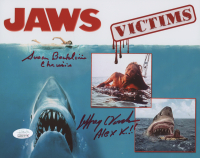 "Susan Backlinie & Jeffrey Voorhees Signed ""Jaws"" 8x10 Photo Inscribed ""Chrissie"" & ""Alex K!!"" (JSA COA) at PristineAuction.com"