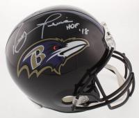 "Ray Lewis Signed Baltimore Ravens Full-Size Helmet Inscribed ""HOF 18"" (JSA COA) at PristineAuction.com"