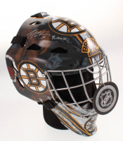 """Gerry Cheevers Signed Boston Bruins Full-Size Hockey Goalie Mask Inscribed """"The Mask"""" (Schwartz COA) at PristineAuction.com"""