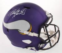 Adrian Peterson Signed Minnesota Vikings Full-Size Speed Helmet (Beckett COA) at PristineAuction.com