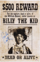 """Emilio Estevez Signed """"Billy The Kid"""" 12x18 Wanted Poster (Schwartz COA) at PristineAuction.com"""