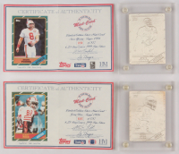 Lot of (2) 1997 Highland Mint Mint-Cards Topps with #44 Steve Young 86/S/500 & #29 Jerry Rice 86/S/750 at PristineAuction.com