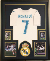 Cristiano Ronaldo Signed 35x43 Custom Framed Jersey (Beckett COA) at PristineAuction.com