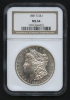 1881-S Morgan Silver Dollar (NGC MS64) at PristineAuction.com