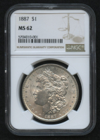 1887 Morgan Silver Dollar (NGC MS62) at PristineAuction.com