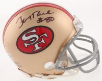 Jerry Rice Signed San Francisco 49ers Mini Helmet (Beckett COA) at PristineAuction.com