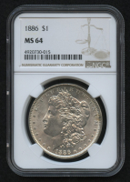 1886 Morgan Silver Dollar (NGC MS64) at PristineAuction.com