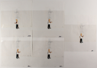 """Lot of (5) """"Dilbert"""" 10.5x12.5 Original Animation Production Cels & Sketches (PA LOA) at PristineAuction.com"""