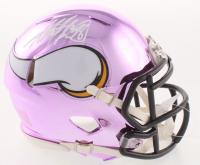 Adrian Peterson Signed Minnesota Vikings Chrome Speed Mini Helmet (Beckett COA) at PristineAuction.com