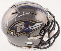 Ray Lewis Signed Baltimore Ravens Chrome Speed Mini Helmet (Beckett COA) at PristineAuction.com