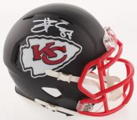 Travis Kelce Signed Kansas City Chiefs Matte Black Speed Mini Helmet (Beckett COA) at PristineAuction.com