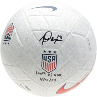 "Alex Morgan Signed Team USA Soccer Ball Inscribed ""100th U.S. Goal 4/4/19"" (Fanatics Hologram) at PristineAuction.com"