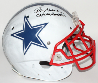 """Roger Staubach Signed Dallas Cowboys Full-Size Authentic On-Field Hydro Dipped Helmet Inscribed """"Captain America"""" (Beckett COA) at PristineAuction.com"""