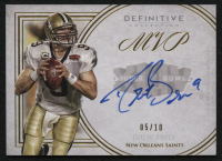 2015 Topps Definitive Collection Legendary Autographs Blue #LACDB Drew Brees #5/10 at PristineAuction.com