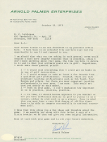 Arnold Palmer Signed Arnold Palmer Enterprises Typed Letter (JSA COA) at PristineAuction.com